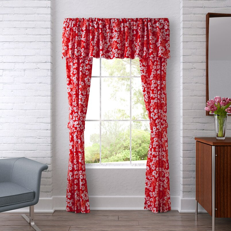 Valances & Kitchen Curtains | Joss & Main Regarding Class Blue Cotton Blend Macrame Trimmed Decorative Window Curtains (View 27 of 30)