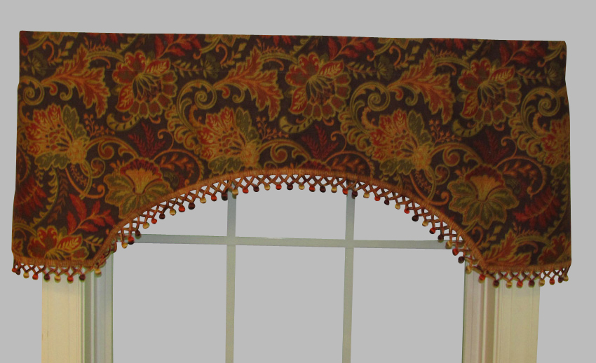 Valances, Swags & Window Toppers – Thecurtainshop Regarding Imperial Flower Jacquard Tier And Valance Kitchen Curtain Sets (View 44 of 46)