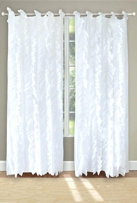 Vertical Ruffle Curtain – Mcnourish Throughout Chic Sheer Voile Vertical Ruffled Window Curtain Tiers (View 37 of 50)