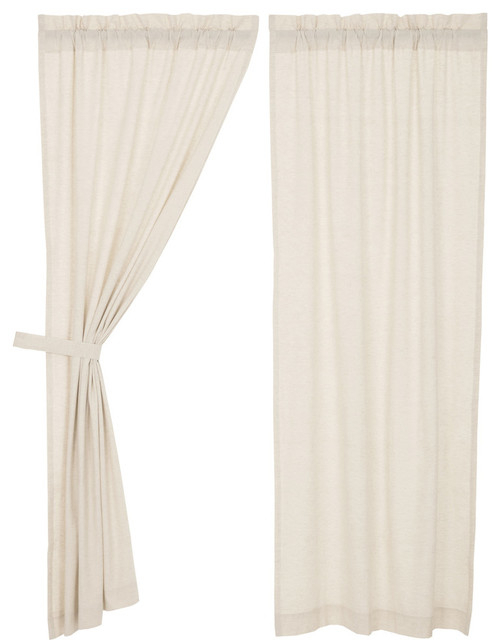 Vhc Farmhouse French Country Curtains Simple Life Flax Solid Panel Pair Regarding Rod Pocket Cotton Linen Blend Solid Color Flax Kitchen Curtains (View 29 of 30)