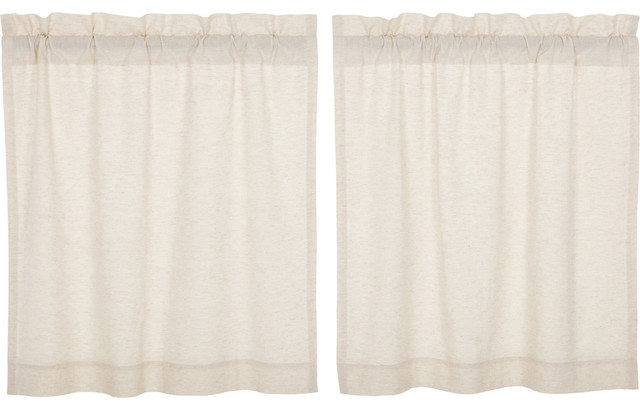 Vhc Farmhouse French Country Curtains Simple Life Flax Solid Tier Pair Inside Simple Life Flax Tier Pairs (View 4 of 30)