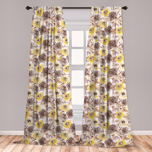 Vintage Curtains | Wayfair With Cotton Blend Classic Checkered Decorative Window Curtains (View 26 of 30)
