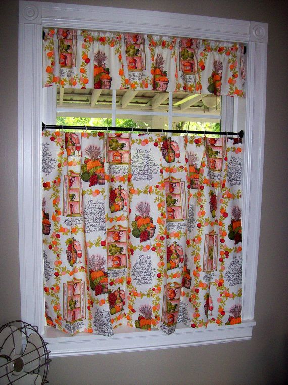 Vintage Kitchen Curtains Set Tiers Cafe Valance Pinch In Pleated Curtain Tiers (View 18 of 50)