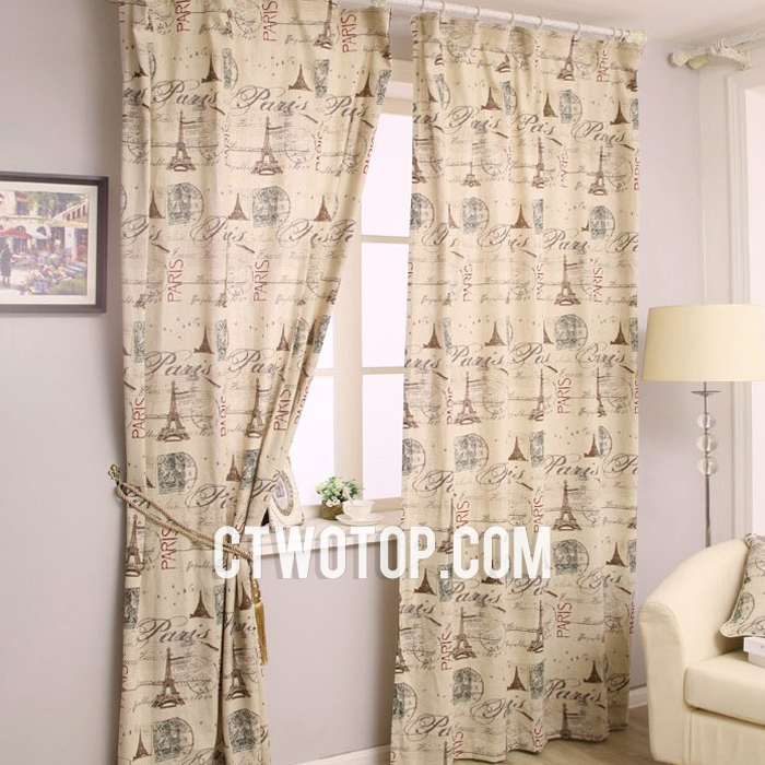 Vintage Style Curtains Contemporary Specail Paris Patterns Within Cotton Blend Classic Checkered Decorative Window Curtains (View 28 of 30)