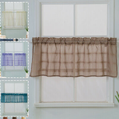 """Vintage Style Kitchen Curtain Valance Hand Made 36"""" Window For Oakwood Linen Style Decorative Window Curtain Tier Sets (#29 of 30)"""