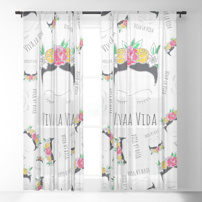 Viva La Vida Sheer Curtainmayrareinart With Regard To La Vida Window Curtains (#26 of 30)