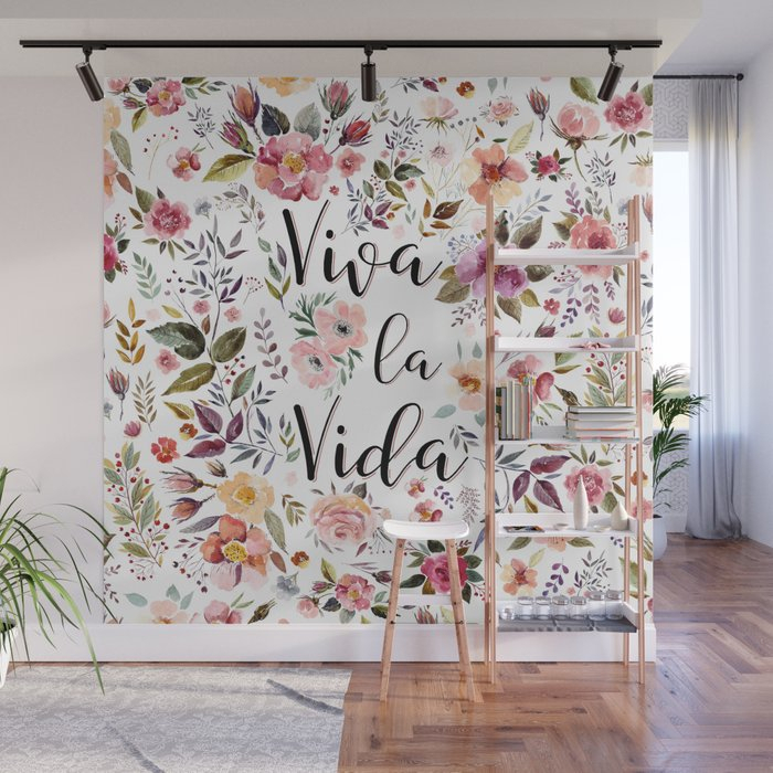 Viva La Vida Wall Muralelisagordon Inside La Vida Window Curtains (#28 of 30)