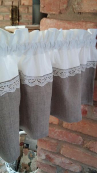 Vorhang Gardine Shabby Chic In Brandenburg – Neustadt (Doss Inside White Tone On Tone Raised Microcheck Semisheer Window Curtain Pieces (#43 of 46)
