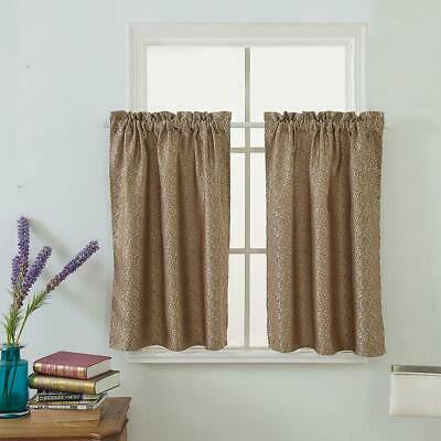 Waffle Woven Cafe Curtains Waterproof Kitchen Window Curtain Pertaining To Kitchen Window Tier Sets (#49 of 50)
