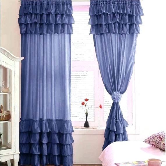 Waterfall Ruffle Curtain – Daivietgroup Inside Navy Vertical Ruffled Waterfall Valance And Curtain Tiers (View 28 of 30)