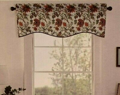 Waverly Felicite Curtain Valance Jacobean Floral Pattern Throughout Waverly Felicite Curtain Tiers (View 5 of 45)