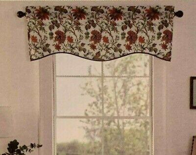 Waverly Felicite Curtain Valance Jacobean Floral Pattern Throughout Waverly Felicite Curtain Tiers (#31 of 45)
