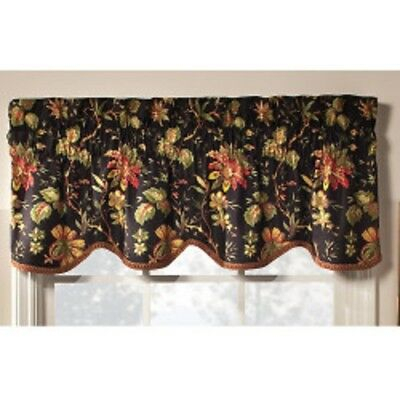 Waverly Felicite Single Scalloped Window Valance 50Inx15In Pertaining To Waverly Felicite Curtain Tiers (#33 of 45)