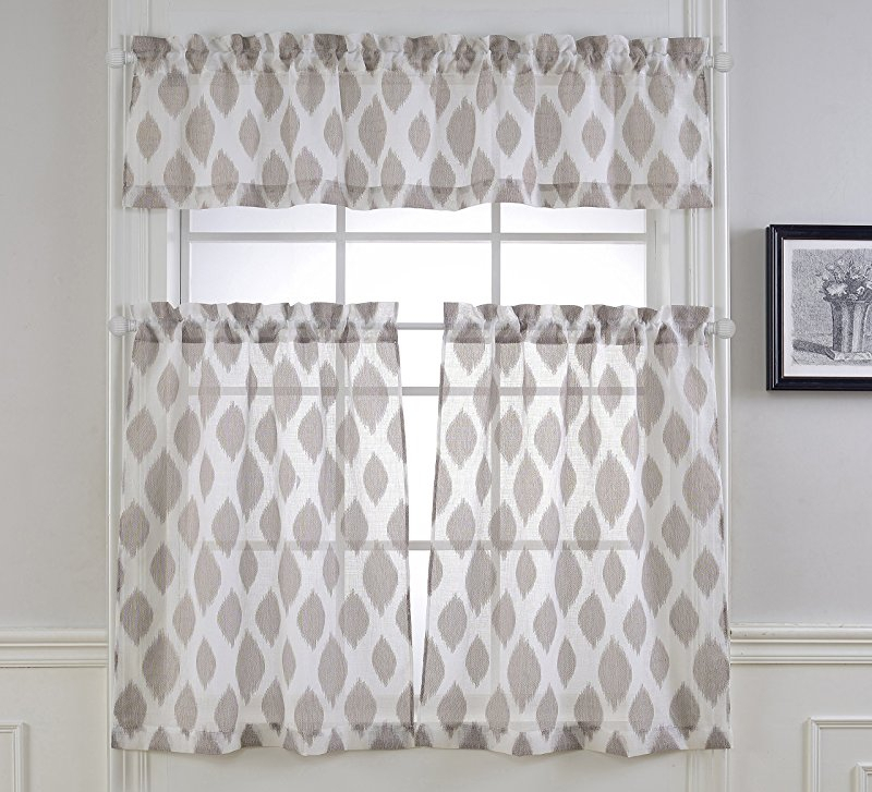 """Waverly Home Classics Cashmere Ruby Ascot Valance, 52"""" W X Inside Classic Black And White Curtain Tiers (View 49 of 50)"""