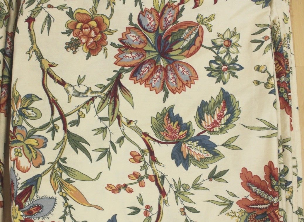 Waverly Jacobean Imperial Dress Floral Two And 50 Similar Items Intended For Imperial Flower Jacquard Tier And Valance Kitchen Curtain Sets (#45 of 46)