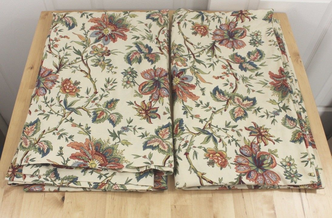 Waverly Jacobean Imperial Dress Floral Two And 50 Similar Items Throughout Imperial Flower Jacquard Tier And Valance Kitchen Curtain Sets (#46 of 46)