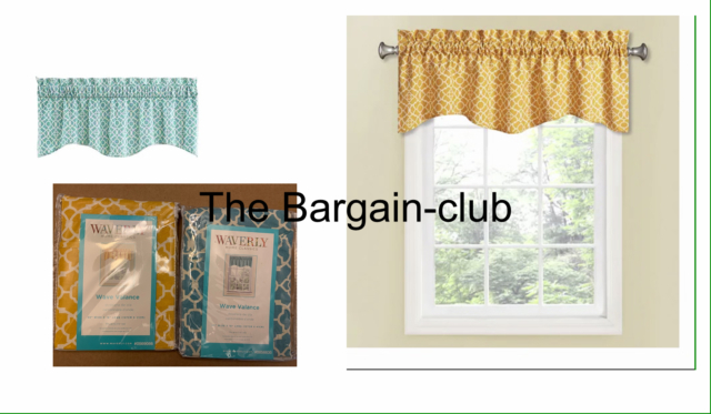 Waverly Lovely Lattice 16 In Cotton Rod Pocket Valance Yellow Or Teal,onyx,  Blue Inside Rowley Birds Valances (#43 of 50)