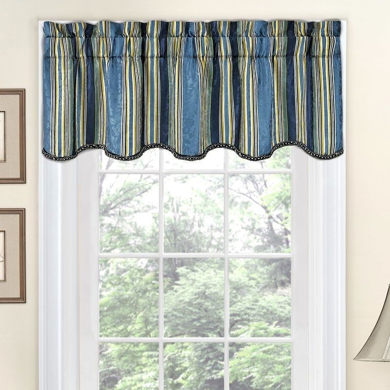 Waverly Striped Valances – Scholam (View 43 of 45)