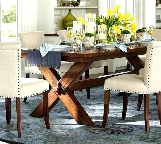 Well Known Alfresco Brown Banks Pedestal Extending Dining Tables Throughout Potterybarn Dining Table – Teencuentro (View 16 of 30)