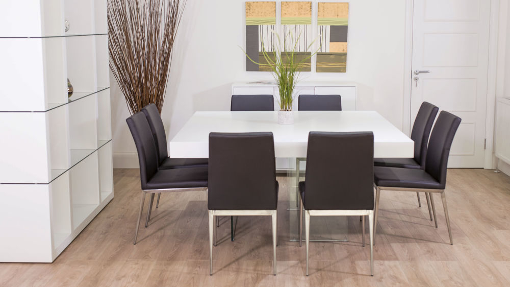 Well Known Aria White Oak Square And Lucia Dining Set In Lucy Bar Height Dining Tables (#18 of 20)