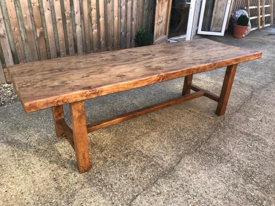 Well Known Elm 19Th Century Normandy Two Plank Table, 19Th Century Regarding Normandy Extending Dining Tables (#26 of 30)