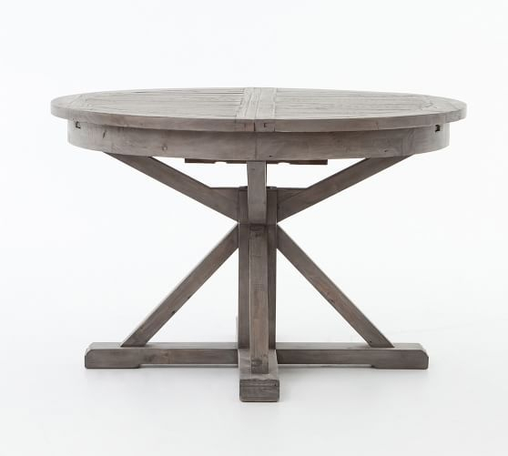 Well Known Hart Reclaimed Pedestal Extending Dining Table, Black Olive Pertaining To Hart Reclaimed Extending Dining Tables (#19 of 20)