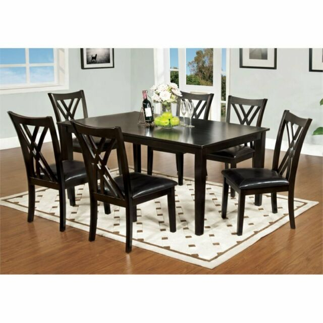 Well Known Hearst Oak Wood Dining Tables In Furniture Of America 7 Piece Hearst Rectangular Dining Table And Chair Set, (#20 of 20)