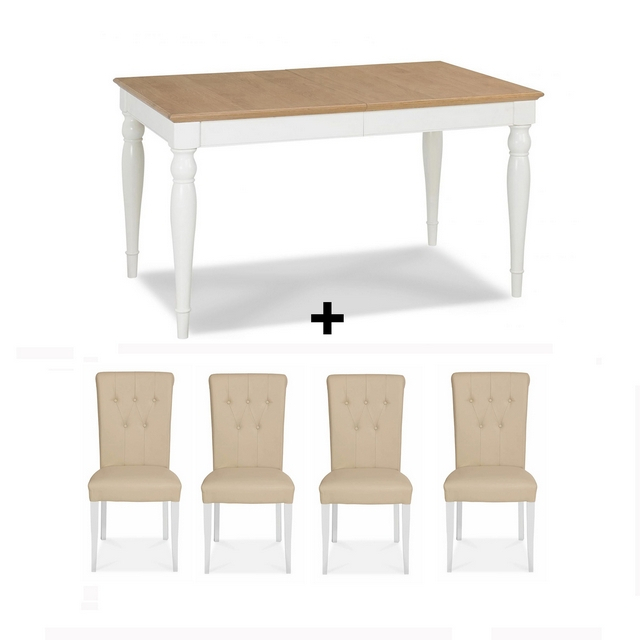 Well Known James Adjustables Height Extending Dining Tables In Cookes Collection Camden Two Tone Dining Table And 4 Chairs (#19 of 20)