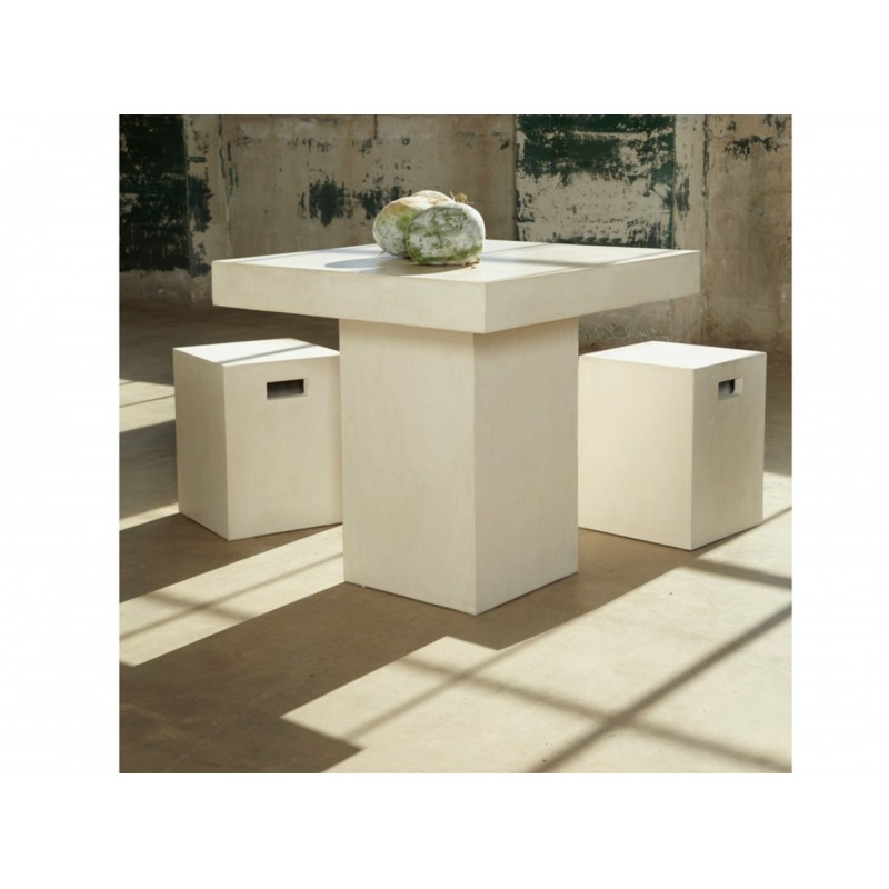 Well Known Modrest Yem Ivory Concrete Square Dining Table Inside Kipling Rectangular Dining Tables (#18 of 20)