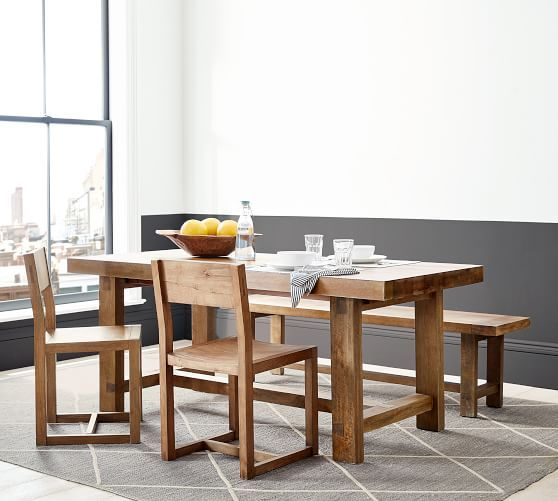 Well Known Reed Extending Dining Tables Throughout Reed Extending Dining Table, Antique Umber – Small Space (View 3 of 30)