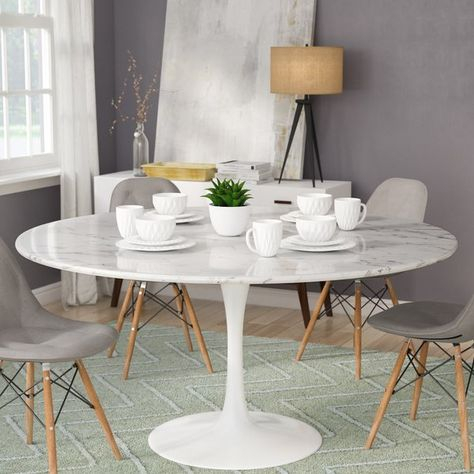 Well Liked Julien Artificial Marble Round Dining Table & Reviews (#29 of 30)