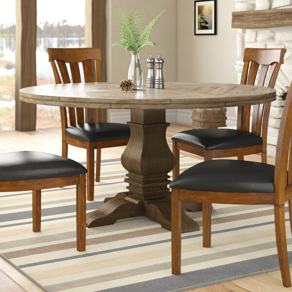 Well Liked Magaw Solid Wood Dining Table Regarding Rae Round Pedestal Dining Tables (#29 of 30)