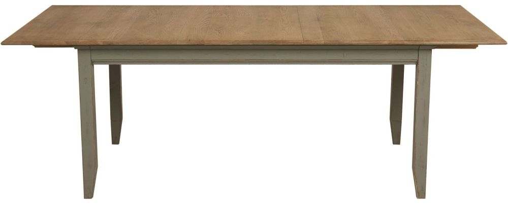 Well Liked Normandy Rectangular Extending Dining Table – Oak And Grey Painted Throughout Normandy Extending Dining Tables (View 17 of 30)