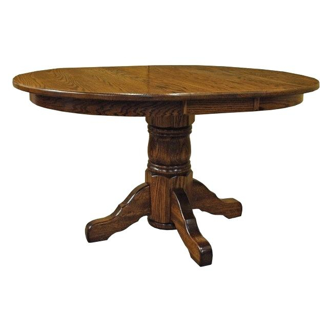 Well Liked Pedestal Dining Table With Leaf Round Pedestal Dining Table Inside Driftwood White Hart Reclaimed Pedestal Extending Dining Tables (View 9 of 30)