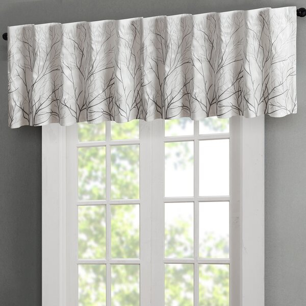 White And Navy Valance | Wayfair Intended For Navy Vertical Ruffled Waterfall Valance And Curtain Tiers (View 10 of 30)