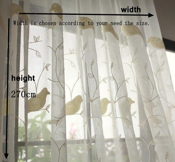 White Birds Curtains Fabric, Window Curtains Fabric For Diy Regarding Ivory Knit Lace Bird Motif Window Curtain (View 44 of 50)