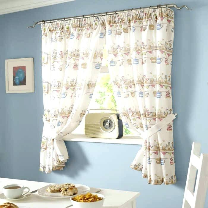 White Cafe Curtains Full Size Of Decorating Half Curtain For Throughout Modern Subtle Texture Solid White Kitchen Curtain Parts With Grommets Tier And Valance Options (View 47 of 50)