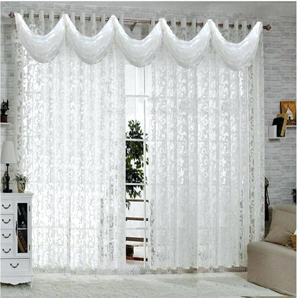 White Curtains For Kitchen – Mekomee Within Luxurious Kitchen Curtains Tiers, Shade Or Valances (#50 of 50)
