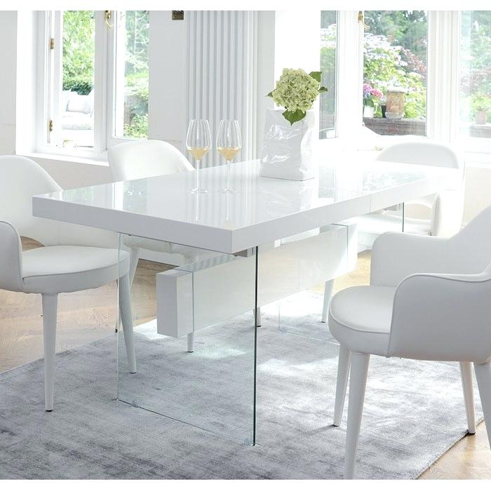 White Dining Table Extending White Dining Table With Duke Throughout Fashionable Driftwood White Hart Reclaimed Pedestal Extending Dining Tables (View 22 of 30)