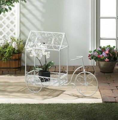 White French Country Style Vintage Design Bicycle Plant In French Vanilla Country Style Curtain Parts With White Daisy Lace Accent (View 50 of 50)