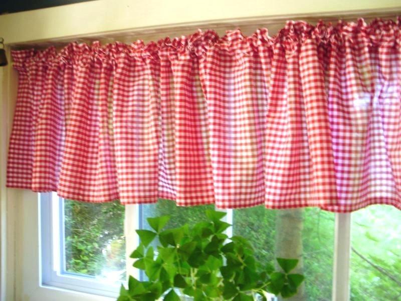 White Kitchen Valance – Ruralinstitute Regarding Modern Subtle Texture Solid Red Kitchen Curtains (View 48 of 50)