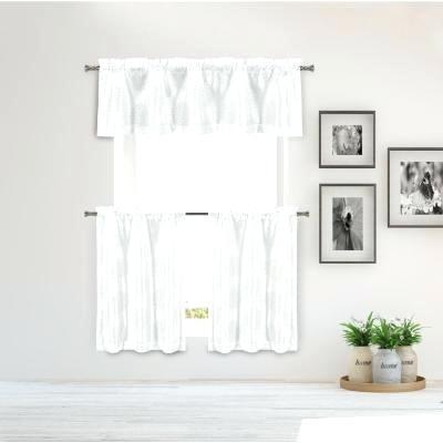 White Kitchen Valance – Ruralinstitute Throughout Modern Subtle Texture Solid Red Kitchen Curtains (#49 of 50)