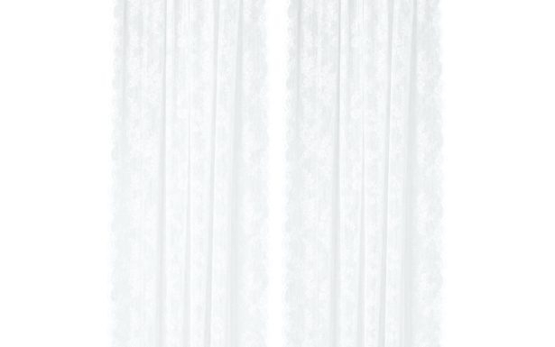 White Knit Lace Bird Motif Window Curtain Tiers Valance And For White Knit Lace Bird Motif Window Curtain Tiers (View 45 of 50)