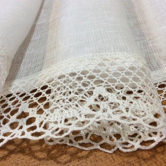 White Linen Curtains Farmhouse Kitchen Cafe Curtain Panels For Farmhouse Kitchen Curtains (View 49 of 50)