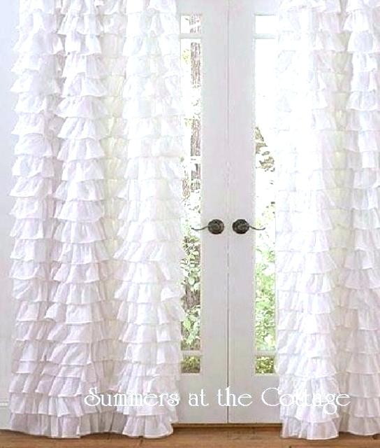 White Shabby Chic Curtains Romance Curtain Panel – Udbhavah (View 42 of 50)