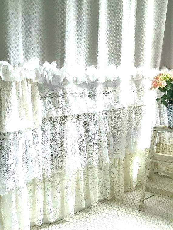 White Shabby Chic Curtains Romance Curtain Panel – Udbhavah (View 44 of 50)