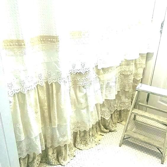 White Shabby Chic Curtains – Stockpickz Throughout Chic Sheer Voile Vertical Ruffled Window Curtain Tiers (View 45 of 50)