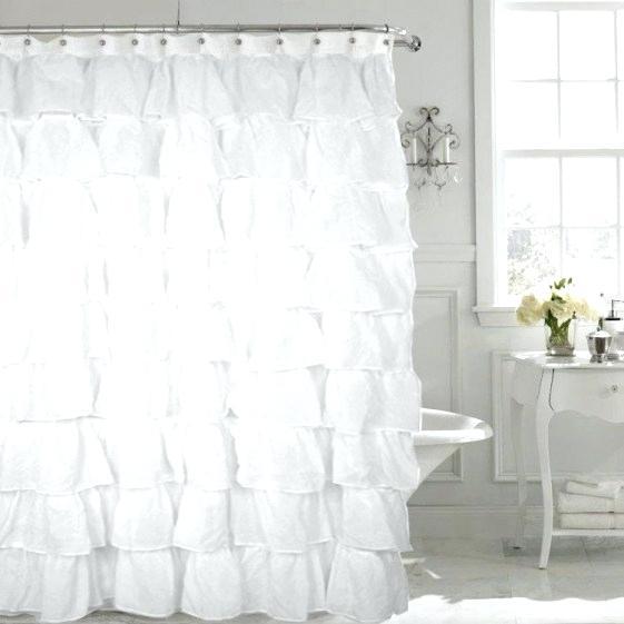White Shabby Chic Shower Curtain – Thebutcherandbarrel (View 46 of 50)