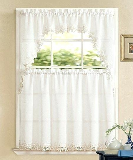White Sheer Valance – Mirnavelasquez With Regard To Chic Sheer Voile Vertical Ruffled Window Curtain Tiers (View 49 of 50)
