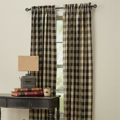 Wicklow Garnet Red Check 84 X 72 Curtains : Country Tan For Grandin Curtain Valances In Black (View 29 of 30)